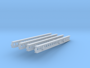 24-M-8 Katyusha Launcher Left Rails 1-35 in Smooth Fine Detail Plastic