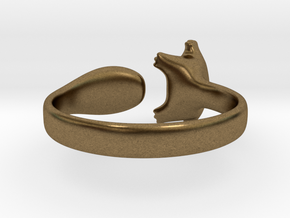 Cat Ring 1 in Natural Bronze: Small
