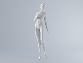 Mini Sexy Woman 028 1/64 in Frosted Ultra Detail: 1:64 - S