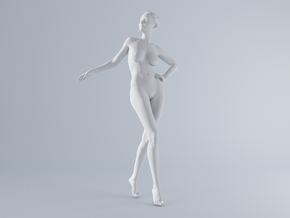Mini Sexy Woman 033 1/64 in Smooth Fine Detail Plastic: 1:64 - S
