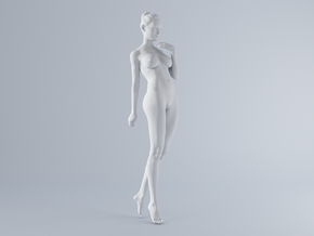 Mini Sexy Woman 034 1/64 in Smooth Fine Detail Plastic: 1:64 - S