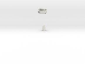鏡頭模型.stl in White Strong & Flexible