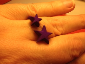 Star Ring in Purple Processed Versatile Plastic