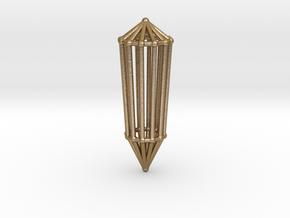 Phi Vogel Crystal - 12 sided in Polished Gold Steel