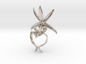 Ghost Orchid Pendant in Platinum