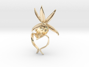 Ghost Orchid Pendant in 14k Gold Plated Brass