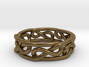 Celtic Infinity Knot Ring in Polished Bronze: 4.5 / 47.75