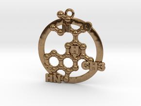 Lsd Molecule 001 in Natural Brass