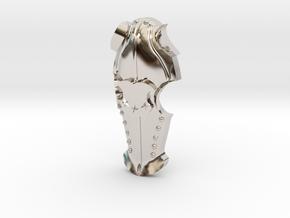 Horse Chefron Pendant in Platinum