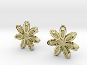 Spring Blossom 5 - Earrings in 18k Gold Plated Brass