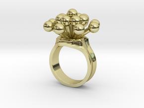 Bulbs Spray Ring in 18k Gold Plated Brass: 4 / 46.5