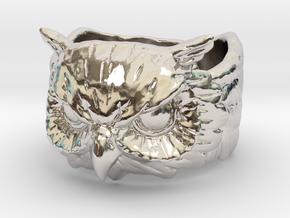 Owl Ring size 7.75 in Platinum: 7.75 / 55.875
