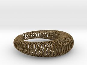 Bracelet 'Wire pattern' in Polished Bronze