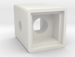 Light Cube Housing in White Natural Versatile Plastic