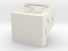 1/50 Dozer Winch D8 in White Natural Versatile Plastic