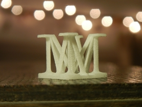 Two way letter / initial M&M in White Natural Versatile Plastic