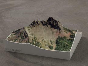 Three Fingered Jack, Oregon, USA, 1:15000 in Full Color Sandstone