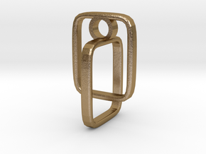 Pendant 79 in Polished Gold Steel