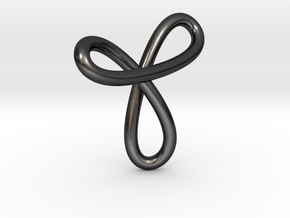 Pendant 80 in Polished and Bronzed Black Steel