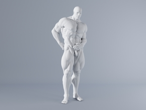 Mini Strong Man 1/64 012 in Smooth Fine Detail Plastic: 1:64 - S