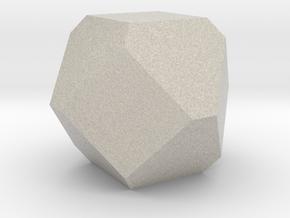 Cuboctohedral Fourteen-sided Die in Natural Sandstone