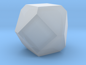 Cuboctohedral Fourteen-sided Die in Smooth Fine Detail Plastic