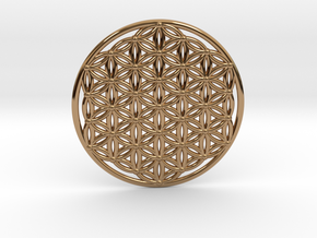 Flower Of Life - Large in Polished Brass