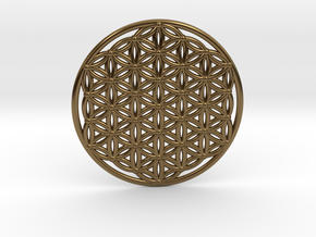 Flower Of Life - Large in Polished Bronze
