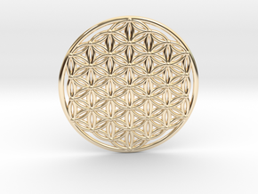 Flower Of Life - Large in 14k Gold Plated Brass