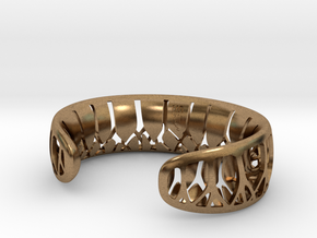 Forest for the Trees Cuff in Natural Brass: Small
