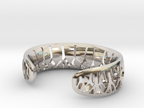 Forest for the Trees Cuff in Rhodium Plated Brass: Small