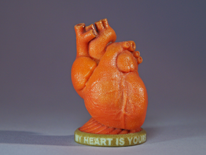 Valentine's Heart - 'My Heart is Yours' in Coated Full Color Sandstone