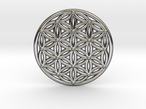 Flower Of Life - Medium in Polished Silver