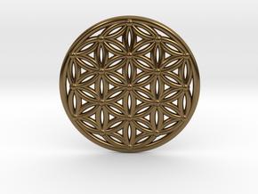 Flower Of Life - Medium in Polished Bronze