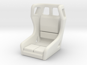 1/10 SCALE SEAT in White Natural Versatile Plastic: 1:10