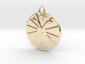 Aries Wheel by ~M. (Mar. 21 - Apr. 19) in 14k Gold Plated
