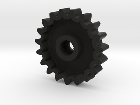 TM02 Servo Gear 25T Futaba V2 in Black Natural Versatile Plastic