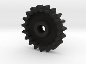 TM02 Servo Gear 24T Hitec V2 in Black Strong & Flexible