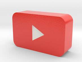 YouTube Play Button in Glossy Full Color Sandstone