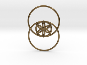 Vesica Piscis - Flower of life in Polished Bronze