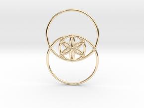 Vesica Piscis - Flower of life in 14k Gold Plated Brass