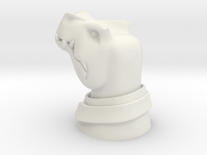 Middle Management Dino in White Natural Versatile Plastic