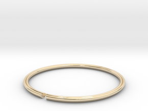 Secret Heart Introvert Bangle in 14K Yellow Gold