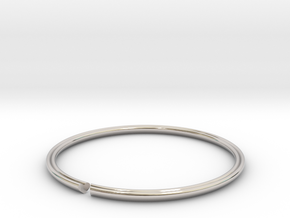 Secret Heart Introvert Bangle in Rhodium Plated Brass