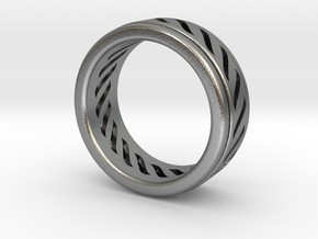 Simple - Fidget (Spin) Ring in Natural Silver (Interlocking Parts): 13 / 69