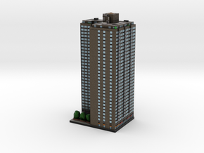 High Rise Apartment Building New York 4 x 4 in Full Color Sandstone