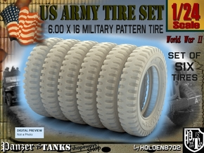 1-24 SIX UNITS Tire 600x16 in Frosted Ultra Detail