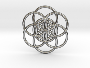 Seed Of Life in Polished Silver