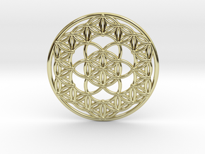 Seed Of Life - Flower Of Life in 18k Gold Plated Brass