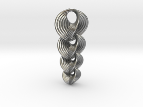 Hyperbole 02 Chain Small in Interlocking Raw Silver